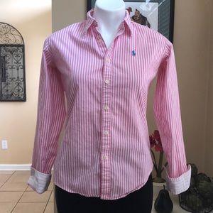 Ralph Lauren Sport Blue Label 4 Stripe Top Shirt